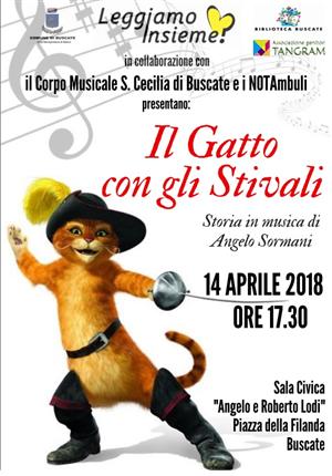 IL GATTO CON GLI STIVALI - LETTURA IN MUSICA - SABATO 14 APRILE