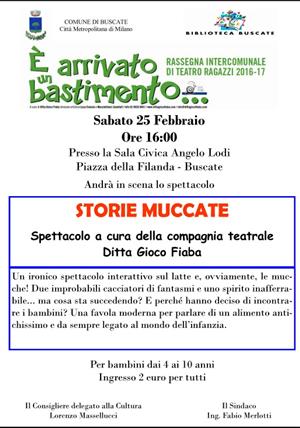 STORIE MUCCATE - SPETTACOLO PER BAMBINI - SABATO 25 FEBBRAIO